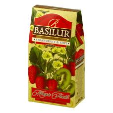 Чай черный Basilur  Магические фрукты Клубника и киви картон 100г