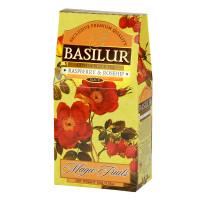 Чай черный Basilur Магические фрукты Малина и шиповник картон 100г