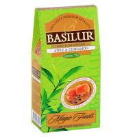 Чай зеленый Basilur Магические фрукты Яблоко и корица картон 100г