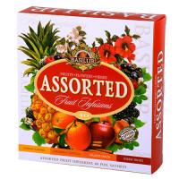 Чай Basilur Фруктовые коктейли Ассорти пакетированный 40х1,8гр