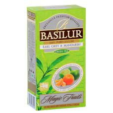 Чай зелений Basilur Магічні фрукти Ерл Грей і мандарин пакетований 25х1,5гр