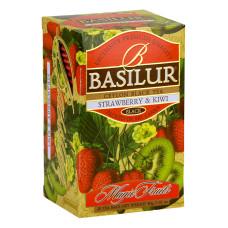 Чай черный Basilur Магические фрукты Клубника и киви пакетированный 20х2г