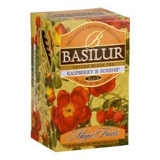 Чай черный Basilur Волшебные фрукты Малина и шиповник пакетированный 20х2г
