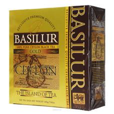 Чай черный Basilur Чайный остров Золотой пакетированный 100х2г
